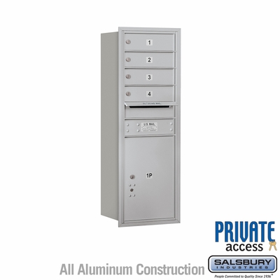 Salsbury 3711S-04ARP 4C Mailboxes 4 Tenant Doors Rear Loading