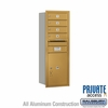 Salsbury 3711S-04GRP 4C Mailboxes 4 Tenant Doors Rear Loading