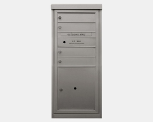 4 Tenant Doors - Front Loading 4C Horizontal Mailbox with 1 Parcel Locker - USPS Approved