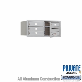 Salsbury 3703D-04AFP 4C Mailboxes 4 Tenant Doors Front Loading