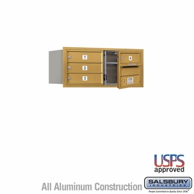 Salsbury 3703D-04GFU 4C Mailboxes 4 Tenant Doors Front Loading