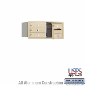 Salsbury 3703D-04SFU 4C Mailboxes 4 Tenant Doors Front Loading