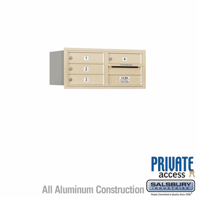 Salsbury 3703D-04SRP 4C Mailboxes 4 Tenant Doors Rear Loading