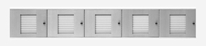 40 Name Capacity Directory - Top Mount to Horizontal Mailboxes Anodized Aluminum