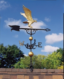 "Whitehall 46"" Traditional Directions Full-Bodied EAGLE Weathervane in Metallic Finish"
