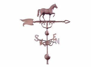 "Whitehall 46"" Traditional Directions Full-Bodied HORSE Weathervane in Metallic Finish"