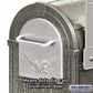 Salsbury 4855PW-7200 Two Heavy Duty Eagle Rural Mailboxes with 2-Sided Post in Pewter