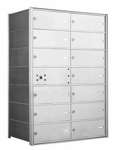 1400 Series Front-Loading Horizontal Mailboxes - 13 Double Wide Tenant Doors