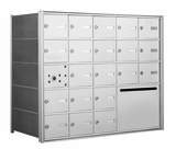 1400 Series Front-Loading Horizontal Mailboxes - 20 Doors and 1 Outgoing Mail Collection