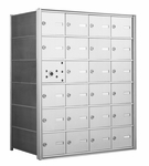 4B+ Front-Loading Horizontal Mailboxes - 23 Tenant Doors And 1 USPS Master Door