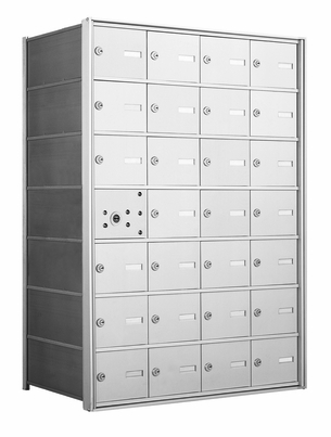 4B+ Front-Loading Horizontal Mailboxes - 27 Tenant Doors And 1 USPS Master Door