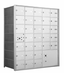 1400 Series Front-Loading Horizontal Mailboxes - 30 Doors and 1 Parcel Locker