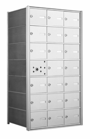 4B+ Horizontal Front Loading Mailboxes - 20 Tenant Doors And 1 USPS Master Door