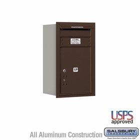 Salsbury 3707S-1PZRU 4C Mailboxes 1 Parcel Locker Rear Loading