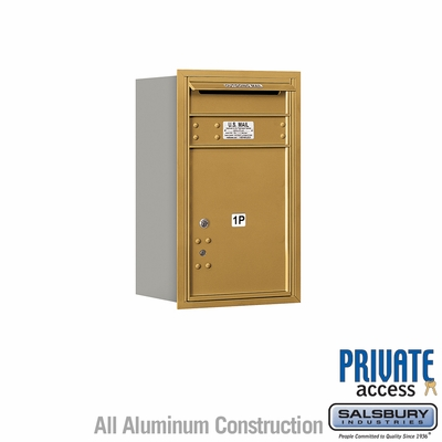 Salsbury 3707S-1PGRP 4C Mailboxes 1 Parcel Locker Rear Loading