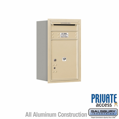 Salsbury 3707S-1PSRP 4C Mailboxes 1 Parcel Locker Rear Loading