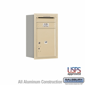 Salsbury 3707S-1PSRU 4C Mailboxes 1 Parcel Locker Rear Loading