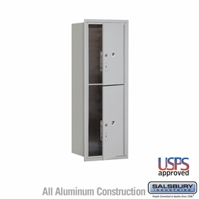 Salsbury 3711S-2PAFU 4C Mailboxes 2 Parcel Lockers Front Loading