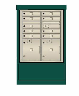 4C mailbox w/ Depot kiosk kit 18 tenant doors and 1 outgoing compartment - 4CIT8-18, DEPS2