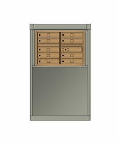 4C mailbox w/ Depot kiosk kit 9 tenant doors and 1 outgoing compartment - 4CDT8-9, DEPS2