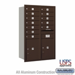 4C Mailboxes Rear Loading 12 Door High Unit