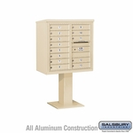 4C Pedestal Mailboxes - 13 to 14 Doors