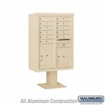 4C Pedestal Mailboxes with Parcel Lockers - 11 to 12 Doors