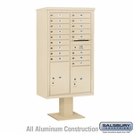 4C Pedestal Mailboxes with Parcel Lockers - 17 to 18 Doors