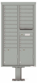 4C Pedestal Mailboxes with Parcel Lockers