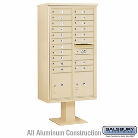 4C Pedestal Mailboxes with Parcel Lockers - 19 to 20 Doors