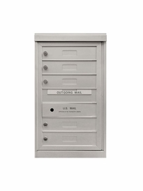 5 Single Height Tenant Doors Front Loading Flex-S5 USPS Approved 4C Horizontal Mailboxes