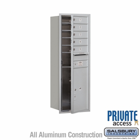 Salsbury 3713S-05AFP 4C Mailboxes 5 Tenant Doors Front Loading