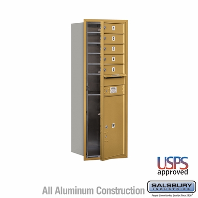 Salsbury 3713S-05GFU 4C Mailboxes 5 Tenant Doors Front Loading