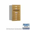 Salsbury 3707S-05GRP 4C Mailboxes 5 Tenant Doors Rear Loading