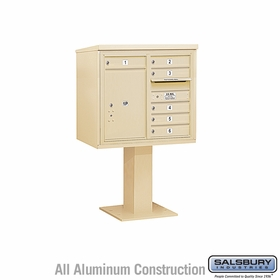 4C Pedestal Mailboxes with Parcel Lockers - 5 to 6 Doors