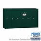 Salsbury 3506GSP 6 Door Vertical Mailbox Green Surface Mounted Private Access