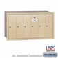 Salsbury 3506SRU 6 Door Vertical Mailbox Sandstone Recessed Mounted USPS Access