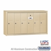 Salsbury 3506SSU 6 Door Vertical Mailbox Sandstone Surface Mounted USPS Access