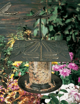 "Whitehall 6"" Dragonfly Tube Feeder - Oil Rub Bronze"