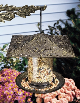 "Whitehall 6"" Oakleaf Tube Feeder - French Bronze"