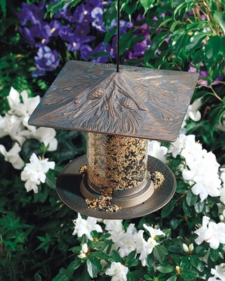 "Whitehall 6"" Pinecone Tube Feeder - French Bronze"