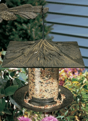 "Whitehall 6"" Pinecone Tube Feeder - Oil Rub Bronze"