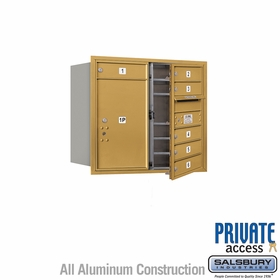 Salsbury 3707D-06GFP 4C Mailboxes 6 Tenant Doors Front Loading