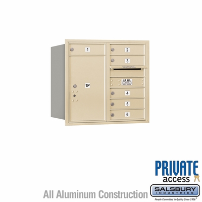 Salsbury 3707D-06SRP 4C Mailboxes 6 Tenant Doors Rear Loading