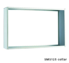 Collar for 4 Wide Semi Recessed Vertical Mailbox - Anodized Aluminum
