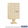 Salsbury 3413D-07 7 Door 4C Pedestal Mailbox - Double Column with Parcel Locker