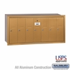 Salsbury 3507BRU 7 Door Vertical Mailbox Brass Finish Recessed Mounted USPS Access