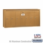 Salsbury 3507BSU 7 Door Vertical Mailbox Brass Finish Surface Mounted USPS Access