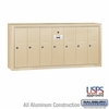 Salsbury 3507SSU 7 Door Vertical Mailbox Sandstone Surface Mounted USPS Access