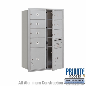 Salsbury 3713D-07AFP 4C Mailboxes 7 Tenant Doors Front Loading